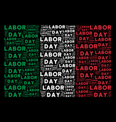 Italy flag collage of labor day texts vector