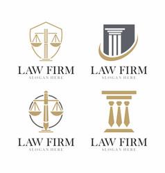 Justice law logo design law firm logo design vector