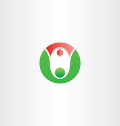 Letter o people father and daughter dance icon vector