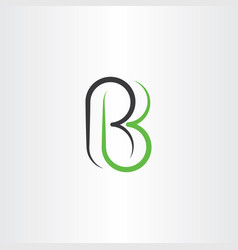 letter r and b rb logo icon element symbol vector image