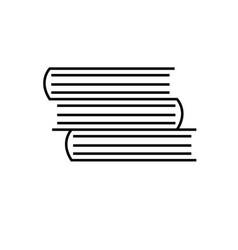 linear books icon vector image