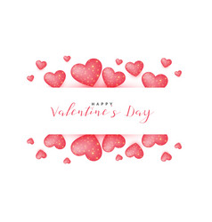 Lovely valentines day greeting background vector