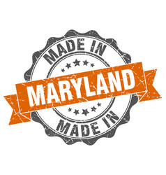 made in maryland round seal vector image vector image