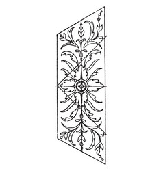 Marble panel is an italian renaissance design vector