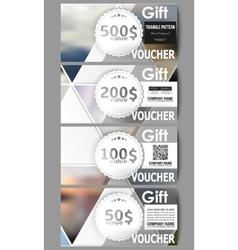 Modern gift voucher templates Abstract vector