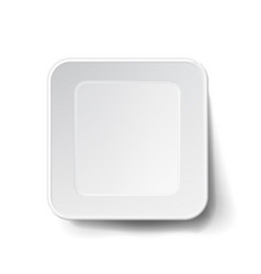 modern white plastic tray mock up good for vector image