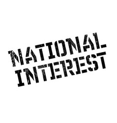 National interest rubber stamp vector