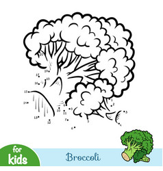 Numbers game education game for children broccoli vector