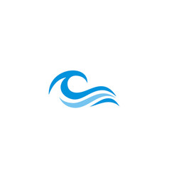 Ocean wave abstract water logo vector