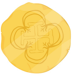 old golden coin vector image
