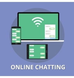 online chatting chat technology multi platform vector image