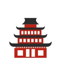 Pagoda flat icon vector