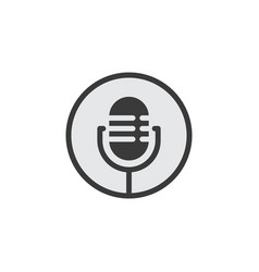 podcast microphone icon vector image