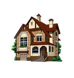 private country house cottage vector image