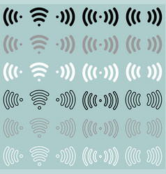 Radio waves wireless radio signal icon radio vector