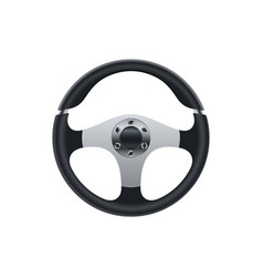 realistic cars steering wheel design vector image