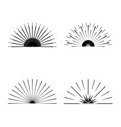 Retro sun burst shapes vector