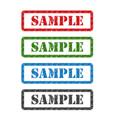 Sample set rubber stamp isolated on background vector