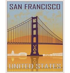 San Francisco vintage poster vector