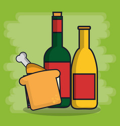 Sandwich icon image vector