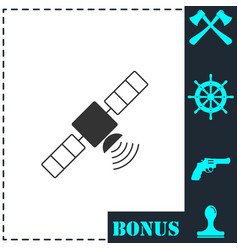 satelite icon flat vector image