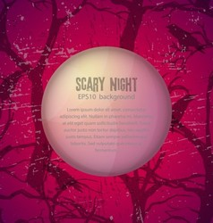Scary night background vector image