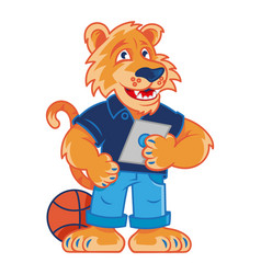 school tiger mascot vector image
