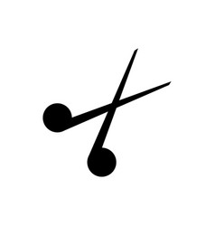 scissors icon on white background vector image