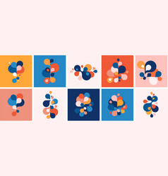 set abstract modern graphic elements and forms vector image