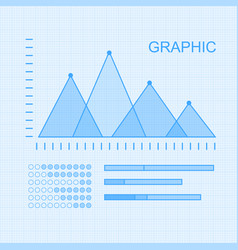 set of graphs and diagrams for infographics vector image