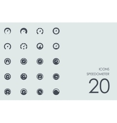 Set of speedometer icons vector image