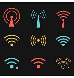 Set of wifi icons for business or commercial use vector