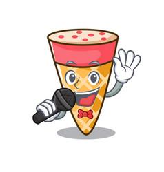 Singing ice cream tone mascot cartoon vector
