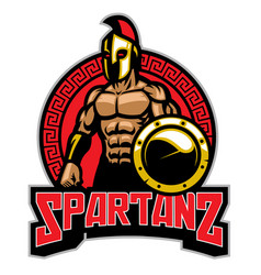 spartans badge vector image