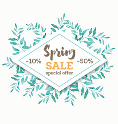 Spring sale background banner with beautiful vector