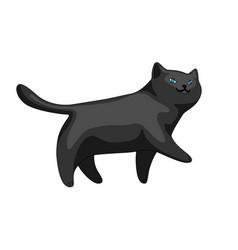 stylized cartoon black cat vector image
