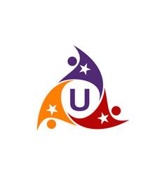 Success life coaching letter u vector
