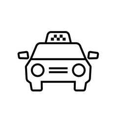 Taxi car icon graphic elements for your design vector