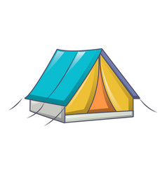 tent camp icon cartoon style vector image