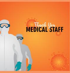 Thank you medical staff corona virus covid-19 vector