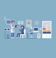 therapist doctor consulting patient vector image