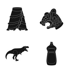 travel history and or web icon in black style vector image