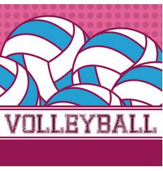 Voleyball balls sport vector
