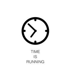 watch icon time is running vector image