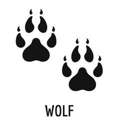 Wolf step icon simple style vector
