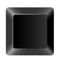 black button of computer keyboard vector image