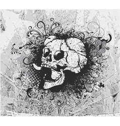 grunge background with skull vector image