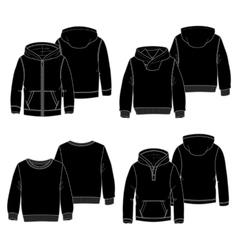 Hoodies 2 Black vector image