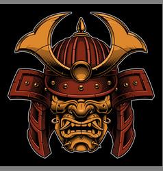 samurai color version vector image vector image
