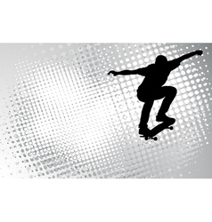 skateboarder on the abstract background vector image